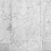 Jászberény Város Határtérképe - fekete-fehér